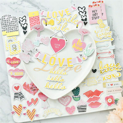 70pcs flamingo cardstock die cuts for scrapbooking happy planner/card mBG