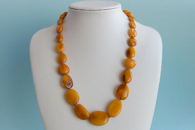 Bernsteinkette Baltic amber necklace collier d'ambre 琥珀項鍊 Länge 58cm (22,83in)