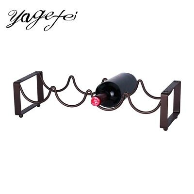 Scrolled Wine Rack Creative 4 Bottles Stand Holder Stackable Iron Storage Shelf