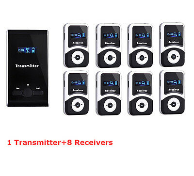 EXMAX UHF Wireless Tour Guide System Translation Meeting Visit Church 8 Receiver