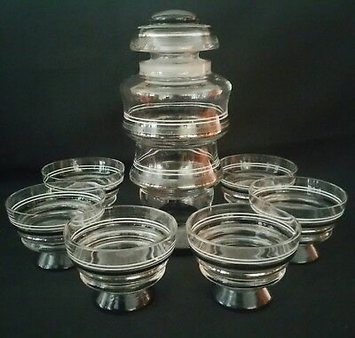 Art Deco Cocktail Shaker And Glasses