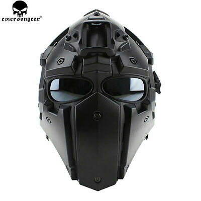 Tactical Helmet CF Game Full Face Goggle Mask Airsoft Paintball Protective 5 Len