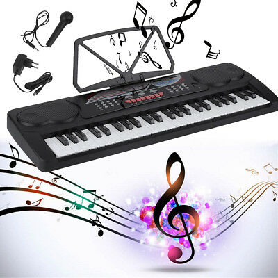 49 Tasten Digital E-Piano Kinder Beginner Home Keyboard Klavier E-Piano Mikrofon