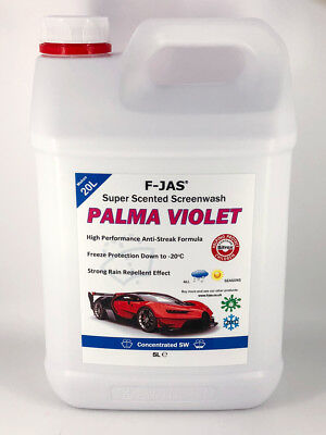F-JAS Super Scented Screenwash PARMA VIOLET Fragrance. Bug Remover & Rain Repell