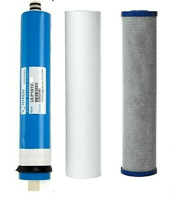 3 Stage Reverse Osmosis RO Complete Water Filter Replacement & 50/75/100/150