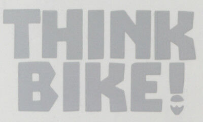 Reflective SILVER / WHITE Think Bike (Bold) Motorcycle Safety Sticker