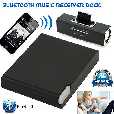30 Pin Bluetooth Dock Adapter Wireless Music Audio Receiver For iPad iPhone iPod