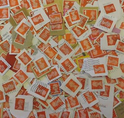 APPROX 1,000 1st CLASS RED FRANKED SECURITY STAMPS USED INCLUDING LARGE