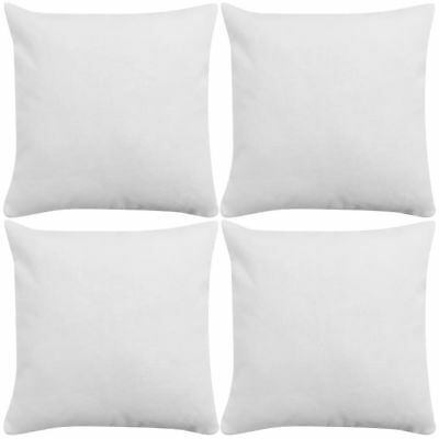 131562 vidaXL Cushion Covers 4 pcs Linen-look White 50x50 cm - Untranslated#