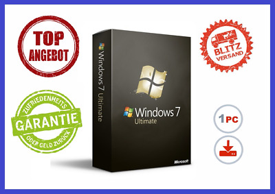 Microsoft Windows 7 Ultimate 32/64BIT ✔ PRODUCT-KEY / LIZENZ ✔ VOLLVERSION
