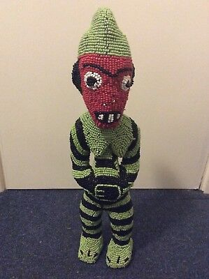 C.1930 African Tribal Art Bamileke Tribe Beaded Doll Figure