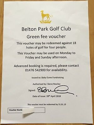 Golf Voucher For 4 People At Belton Park Golf Club