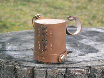 Bicycle leather cup holder drink holder
