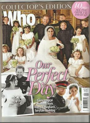 WHO Magazine PRINCE HARRY MEGHAN MARKLE Royal Wedding Collector's Edition