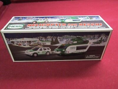 2012 HESS TOY TRUCK HELICOPTER and RESCUE MINT IN BOX.