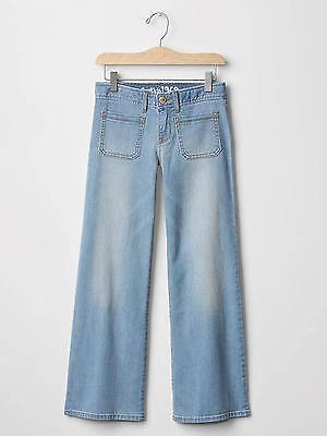 Nwt Gap Kids Girl Light Wash 1969 Flare Jeans 69%cotton 30% Polyester 1% Spandex