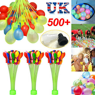 333/555pcs Fast Fill Magic Water Balloons Bombs Self Tying Bunch Summer Toys