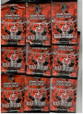 9 x Star Trek - CCG - Booster - Blaze Of Glory - Limited Edition
