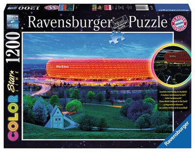 Ravensburger 16187 - Allianz Arena, 1200 Teile Color Starline Puzzle