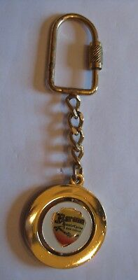 Vintage Barona Valley Ranch Casino Spinning Goldtone Keychain San Diego