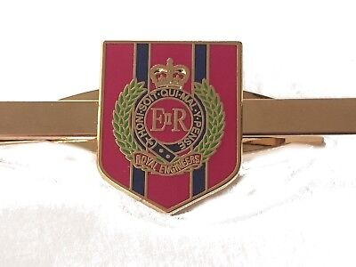 Royal Corps of Engineers Tie Clip Military Tie Slide Shield
