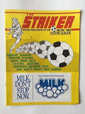 The Striker Pacific Rim Soccer League B.c. Canada Magazine 1985