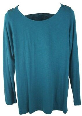 Ladies Motherhood Maternity Teal Long Sleeve Maternity Blouse NWT Size XL