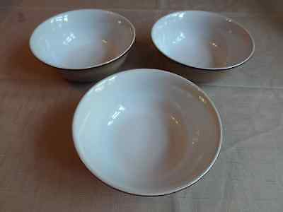 3 x Denby Viceroy Cereal Bowls Excellent