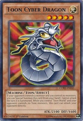 Toon Cyber Dragon (CORE-EN043) - Rare - Near Mint - 1st Edition
