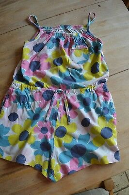 Mini Boden Girls Playsuit with pockets, Multicoloured, Age 7-8 years