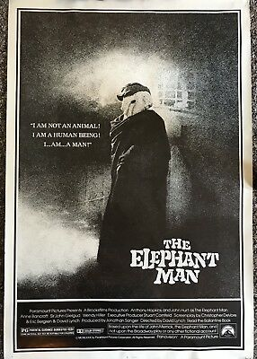 The Elephant Man Anthony Hopkins 1980 One Sheet rolled Movie Poster