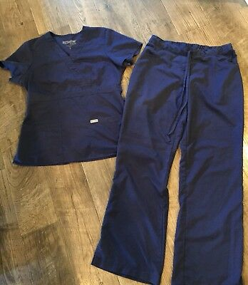 Grey's Anatomy Navy Blue Scrub Set Size Womans Medium
