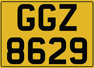 GGZ 8629 - Dateless Number Plate - Horses, Gee Gees, Horsebox, Horse Trailer Box