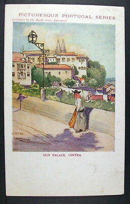 POSTCARD Old Palace Cintra Sintra; Picturesque Portugal; Booth Line Liverpool