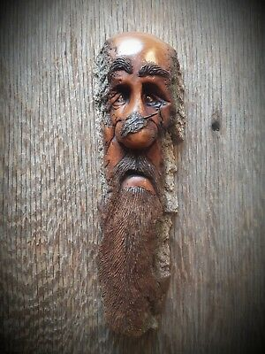 Wood spirit carving, ooak, tree spirit , wall Carving, by Murray, tree spirit