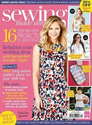 Sewing Made Simple Issue 7 Magazine + 2 Free Sewing Patterns Simple Sew