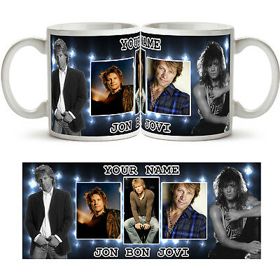 JON BON JOVI PERSONALISED Ceramic Photo Mug Cup Tea Coffee Any Name Gift Idea