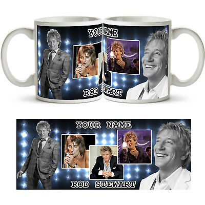 ROD STEWART PERSONALISED Ceramic Photo Mug Cup Tea Coffee Any New Name Gift Idea