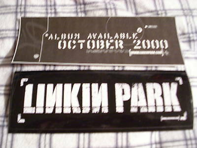 VERY RARE PROMO Linkin Park 1x BUMPER STICKER Chester Bennington UNUSED big 2000