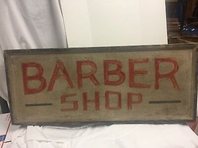 antique Barber Shop Wood Sign