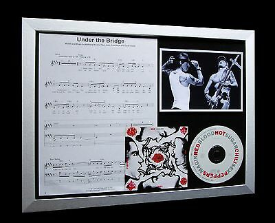 RED HOT CHILI PEPPERS Under The Bridge QUALITY CD FRAMED DISPLAY+FAST WORLD SHIP