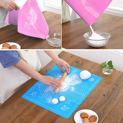 Silicone Dough Rolling Mat Baking Mat Fondant Pastry Non-Stick Pad Sheet Liner