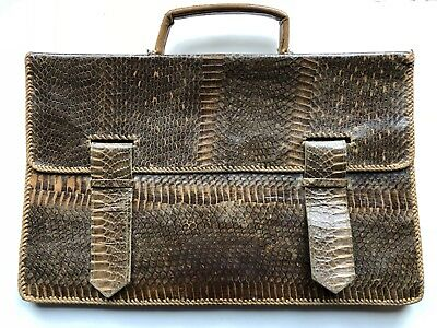 Vintage reptile skin/leather briefcase