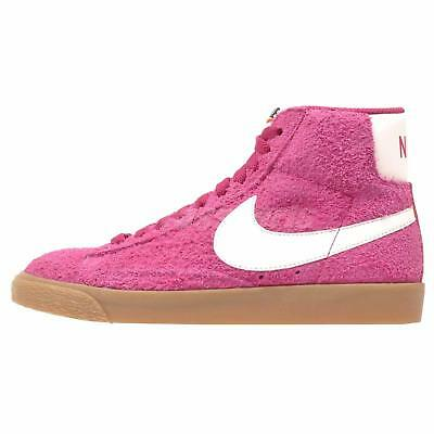 Nike Wmns Blazer Mid Suede VNTG Casual Womens Vintage Shoes Pink 518171-614