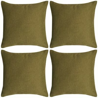 131565 vidaXL Cushion Covers 4 pcs Linen-look Green 50x50 cm - Untranslated#