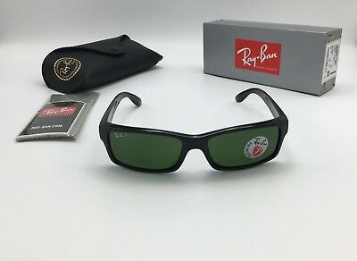 5016b4b7df Ray-Ban RB4151 601 2P Men s POLARIZED Square Black Sunglasses Classic Green  59mm