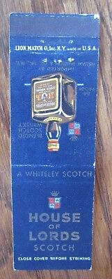 Alcohol: House Of Lords Scotch (New York City) -L1
