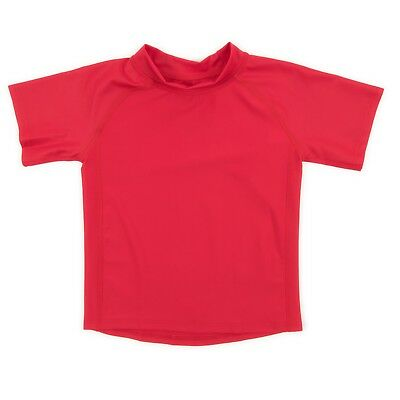Leveret Red Short Sleeve Rash Guard Sun Protected UPF + 50 (12M-5 Toddler)