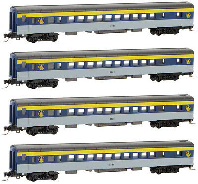 Micro-Trains MTL Z-Scale Passenger Coach Baltimore & Ohio/B&O  - Runner 4-Pack