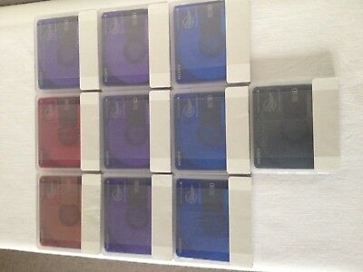 10 Sony Minidisc MD 80 Color ORGINALVERPACKT !